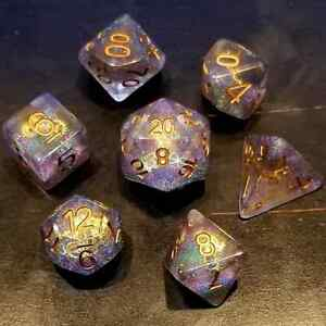 Glittering Gearforged Steampunk 7 Dice Set RPG DnD Dungeons Dragons d20 AD&D