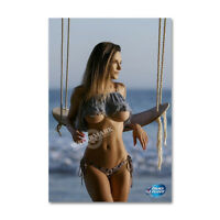 A • 242 # Locker Fridge Magnet Sexy Cute Beer Girl Swim Suit Decor Mini Poster