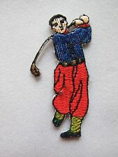 """#2715 2-1/4"""" Golf Men/Boy Embroidery Iron On Applique Patch"""