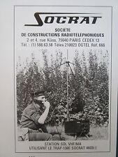 1982 PUB SOCRAT RADIO TELEPHONE STATION SOL VHF/MA TRAP-138E MARINE FRENCH AD