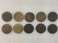 Second Lot of 10 Brass Tokens From Brothel Cat House Screw Motel Ladies Girls