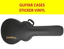 WASHBURN GOLD STICKER VINYL GUITAR CASES VISIT OUR STORE WITH MANY MORE MODELS
