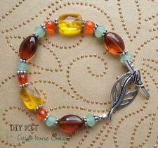 Autumn Air ~ Glass Beaded Bracelet Supplies DIY Bead Kit with Instructions