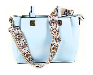White Jacquard Woven Handbag Strap & Purse Strap Replacement- Embroidered Gui...
