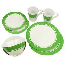 Fridani MDC Dinnerware - vajillas de melamina, 8 piezas, 2 tazas, 4 placas en 2