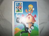 #3205 Sylvester & Tweety Special Die Cut & Imperf Stamp MNH VF 32 CENT SINGLE