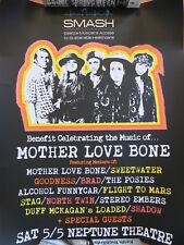 Mother Love Bone poster reunion Rare! Pearl Jam MLB Jeff Ament Stone Gossard