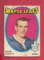 1971-72 OPC  # 80 LEAFS DAVE KEON   CARD