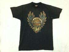 Vtg Harley Davidson 3D Emblem T Shirt Woodstock New York Dream Catcher Indian