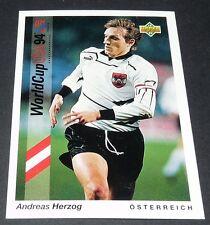 HERZOG WERDER BREMEN ÖSTERREICH FOOTBALL CARD UPPER DECK USA 94 PANINI 1994 WM94