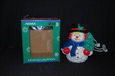 Vintage Noma Lighted Snowman w Original Box