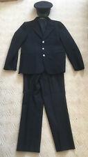 Vintage Hampshire Fire Brigade Fireman's uniform, jacket, trousers, cap c.1974