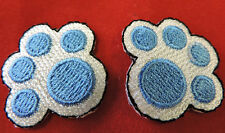 EMBROIDERED IRON ON DOG PAW PRINTS PR APPLIQUE 3590-W