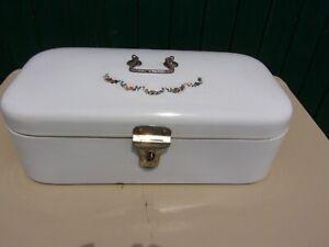 Antiker Brotkasten aus Emaille / Brotbox