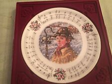"Royal Doulton Bone China Christmas Carols Plate ""While Shepherds Watched"" 1984"