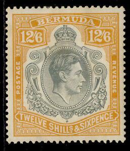 BERMUDA GVI SG120a, 12s 6d grey & brownish orange, M MINT. Cat £225.