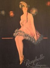 Early Art Deco Raybelle Lingerie Box, Beautiful Flapper, Fabulous Graphics