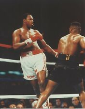 LARRY HOLMES VS MIKE TYSON 8X10 PHOTO BOXING PICTURE