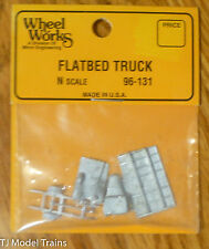 Wheel Works N #96131 Flatbed Truck (Kit) Light Cast Metal (1:160th Scale)