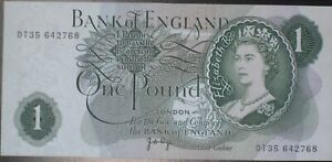 1960's-1970's BANK OF ENGLAND ONE POUND £1 NOTE PAGE CASHIER 100% GENUINE