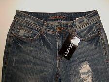 LAURA SCOTT Jeans pour femmes longue gr. 76 used + LOOK Destroyed W29 L34 droit