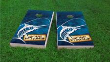 Gone Fishing Themed 2x4 Custom Cornhole Board Set w/ Bags