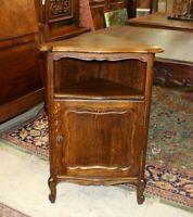 French Oak Louis XV Antique Small Corner Cabinet