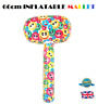 INFLATABLE SMILEY MALLET Blow Up Smile Emoji Toy Stag Hen Fancy Dress Party 66cm