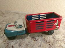 Vintage Tin Friction Cowboy Truck Japan