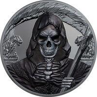 GRIM REAPER Dark Side 1 Oz Silver Coin 1000 Francs Equatorial Guinea 2018