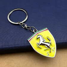 New Ferrari Series Car Keychain Men Shield keyring Part Collect Key Ring Gift