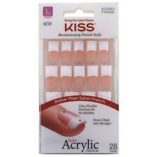 Kiss Acrylic French Kit, Long Length 28 ea (Pack of 4)