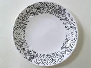 GUSTAVSBERG April Makoto Kagoshima Plate White & Black Sweden 18 cm NEW