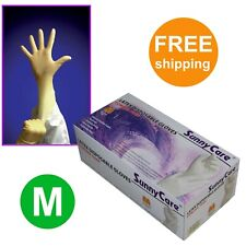 SunnyCare #6802 Powder Free Latex Disposable Gloves (Vinyl Nitrile Free) 100 - M