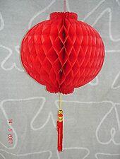 CHINESE 18cm RED PVC PALACE LANTERN WEDDING BIRTHDAY GARDEN JAPANESE PARTY DECO