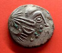 SCARCE! SILVER TETRADRACHM IMITATION FILIPPO II OF MACEDON. TYPE SATTELKOPFPFERD