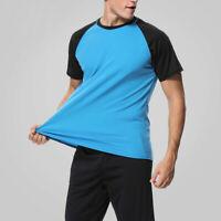 Men Short Sleeve Rash Guard Dry Fit Shirts Diving Beach Surf UV Protection Tops
