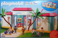 Playmobil US 9539 Ferien-Hotel + Einrichtung Zimmer Rezeption Gäste Pesonal NEU