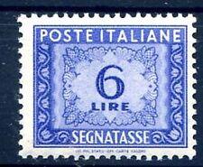 ITALIA 1947 - SEGNATASSE  6 Lire  RUOTA  NUOVO **