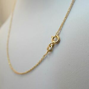 """1.2mm Gold Plated 925 Sterling Silver Cable Rolo Chain -16"""" 18"""" Fine Thin Simple"""