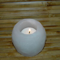 Himalayan White Candle Holder Rough Natural Rock Salt Crystal AAA Grade Quality