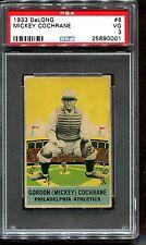 1933 Delong Mickey Cochrane PSA 3 Centered HOF Philadelphia Athletics