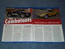 "1965 Shelby King Cobra & 1969 Corvette L88 Article ""The Combatants"" Motion Perf"