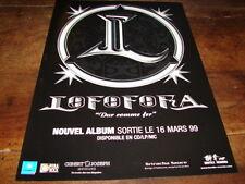 LOFOFORA - PUBLICITE DUR COMME FER !!!!!!!!!