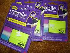 Post It Mobile Attach And Go Dispenser Pm Combo1 Lot Of 3