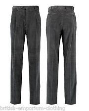 BRIONI Dark Grey Micro Check Velvet Cotton CANNES Trousers UK46 UN-HEMMED BNWT