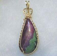 Tanzania ~ RUBY in ZOISITE PENDANT~ Hand Crafted ~14kt GF