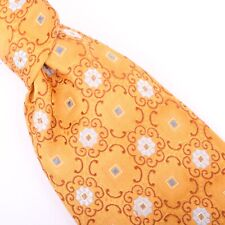 Jos. A. Banks Signature Collection Silk Necktie Gold Paisley Flowers Tie
