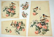 Rice Paper for Decoupage Decopatch Scrapbook Craft Sheet Vintage Birds & Roses 2
