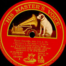 """THEODORE CHALIAPINE  - RUSSIAN BASS- """"Russlan & Ludmila"""" Patter Song 78rpm G3414"""